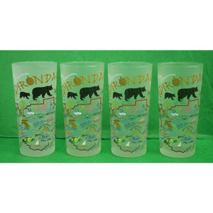 Set of 4 Adirondack Frosted High-Ball Glasses