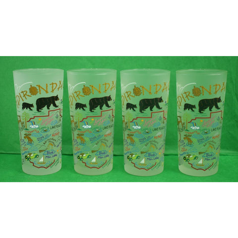 Fab Set of (4) Adirondack Frosted High-Ball Glasses