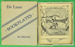 'Boxed Set of 45 Angler/ Fly Fisherman Ex-Libris c. 1940s De Luxe Bookplates'