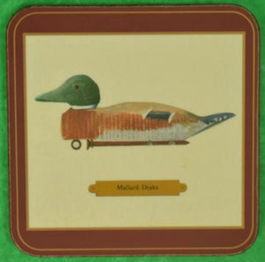 'Set of 6 Duck Decoy Coasters' NIB!
