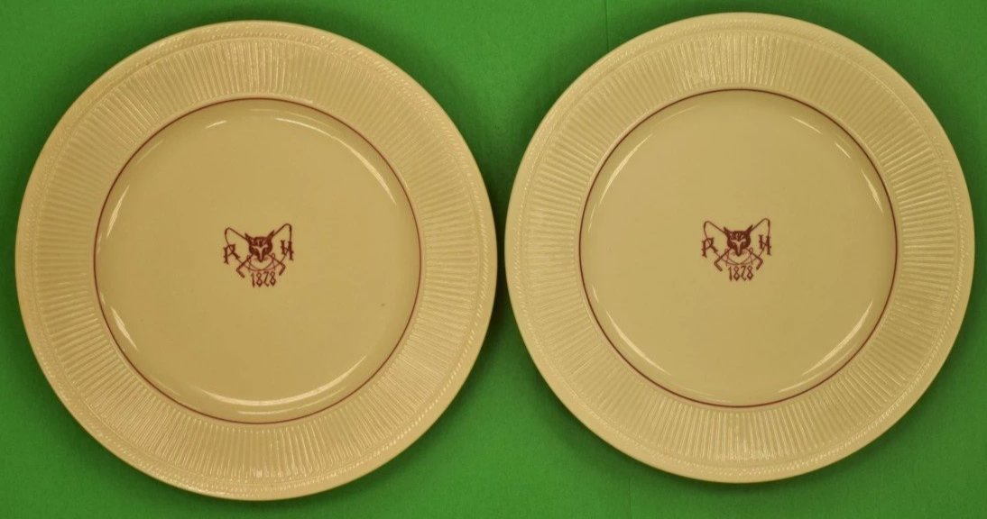 Pair of Rockaway Hunt Club Plates by Shenago