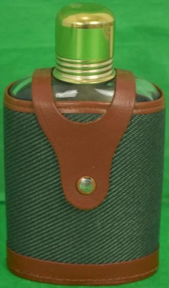 'Abercrombie & Fitch Glass Flask in Canvas/Leather Case'