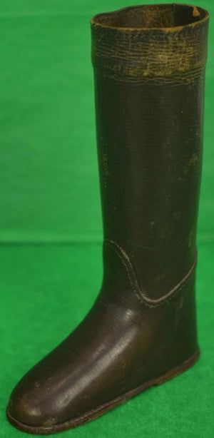 English Leather Riding Boot Matchstick Holder