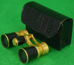 'Abercrombie & Fitch French Opera Binoculars in Croc Case'