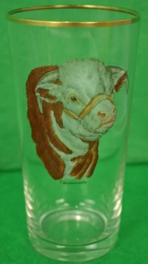 'Set of 5 Frank Vosmansky 'Hereford Bull' c.1950's High-Ball Glasses'