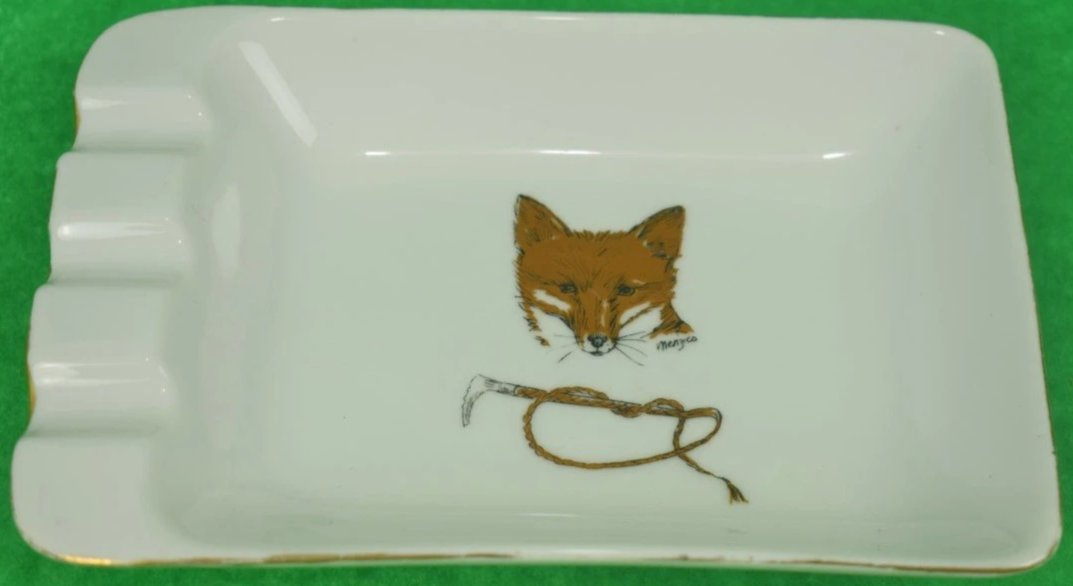 Foxhead & Hunting Crop Ashtray