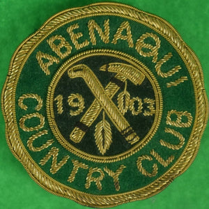 Abenaqui Country Club 1903 Blazer Crest w/ Brass Clip