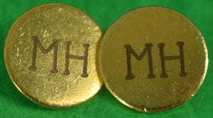 Set of 10 Millbrook Hunt Brass Coat Buttons