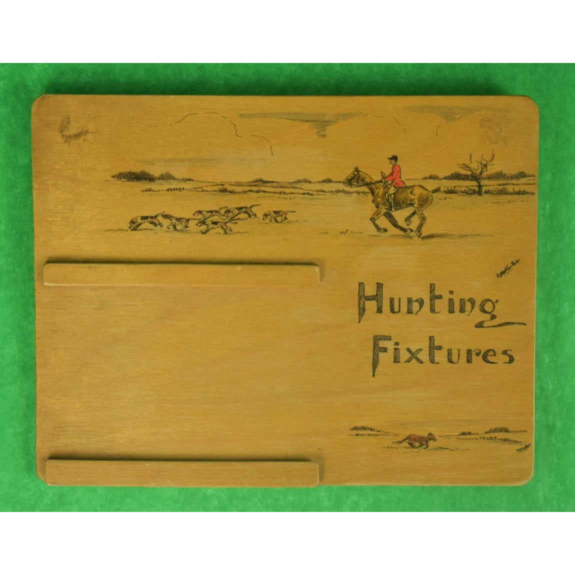 Swaine & Adeney c30s Hunting Fixtures Easel Calendar Plaque