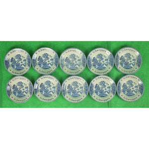 Set of 10 Schweppes Chinoiserie English Coasters