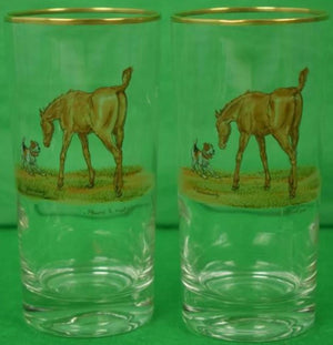 'Set of 10 Frank Vosmansky Highball Colt Glasses'