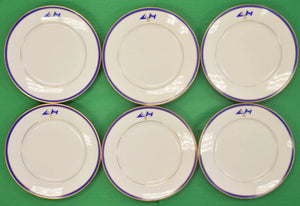 Set of 6 Beverly, Ma Yacht Club Dinner Service Plates
