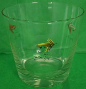 'Set of 12 Carwin Hand-Painted Trout Fly Glasses/ Ice Bucket/ & Cocktail Pitcher Barware'