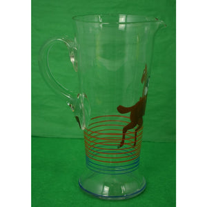 Hand-Painted Steeplechaser Pitcher