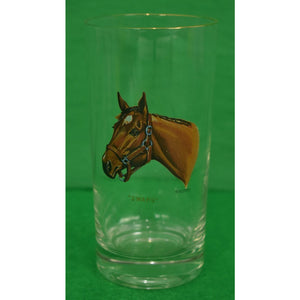 Set of 8 Sintzenich Highball Racehorse Glasses