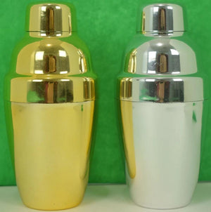Pair of Single Serving Plated Martini Shakers