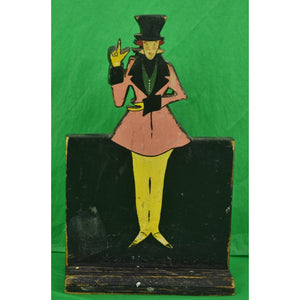 Hand-Painted Dandy Wooden Plaque