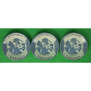 Set of 3 Schweppes Wedgwood Cocktail Coasters