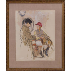 The Jockey Watercolor by Henry Koehler (b.1927)