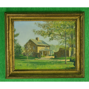 Julian Barrow Stone House on Mary Braga's Oakendale, Va Estate Oil on Linen