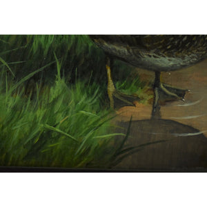 Richard Britton Gamebirds Oil on Canvas from the C.Z. Guest Estate