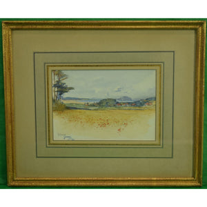 Scottish Landscape Watercolour from the Mary Braga Oakendale, Va Estate