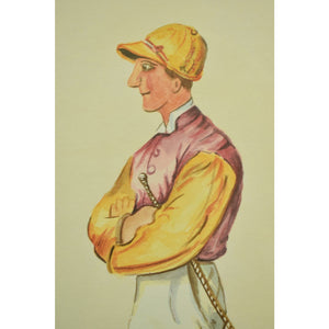 Johnny Watts 1885 Jockey Watercolour