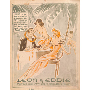 Vintage Leon and Eddie Menu