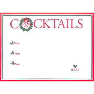 Cocktail Party Xmas Invite Cards