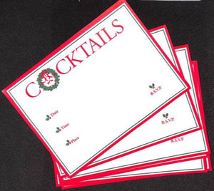 'Cocktail Party Xmas Invite Cards'