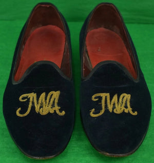 Navy Velvet TWA Women's Slippers Sz: 8