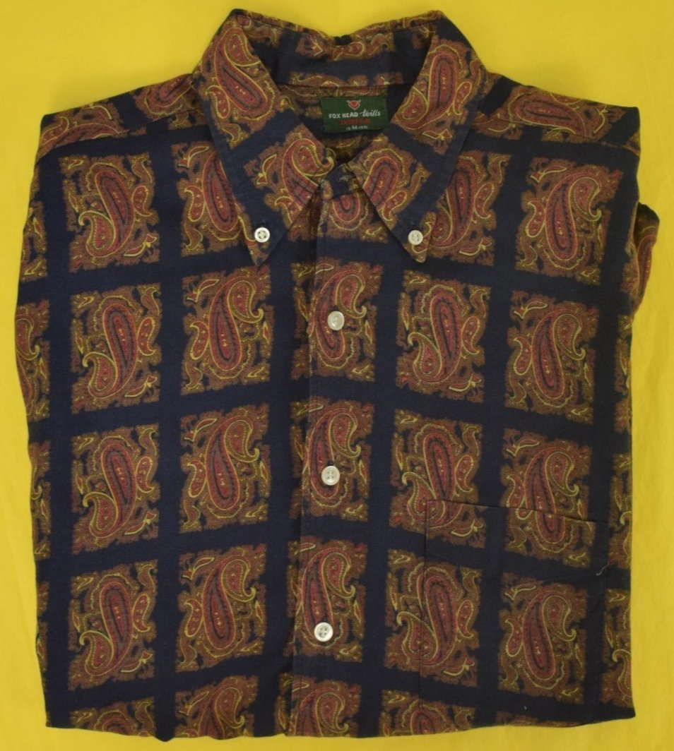 FoxHead Donegal Paisley Twill Spt Shirt Sz: M 15- 15 1/2