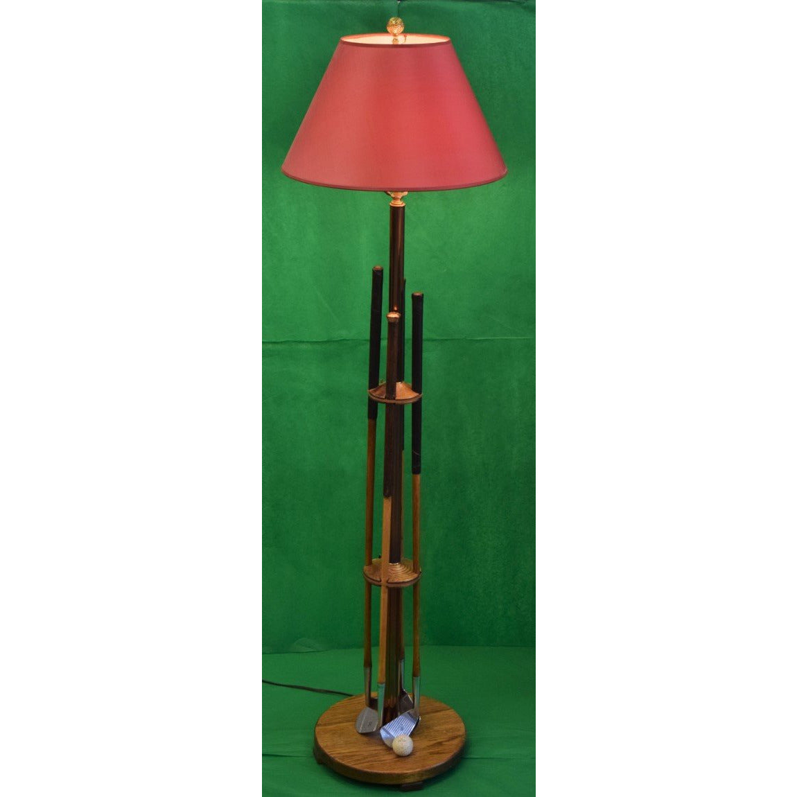 Country Club Golfer 4 Irons Floor Lamp