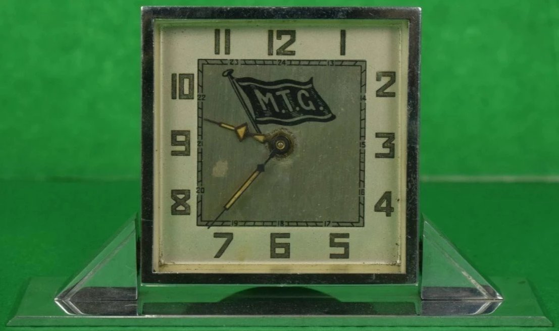 MTG Yachting Art Deco Alarm Swivel Clock