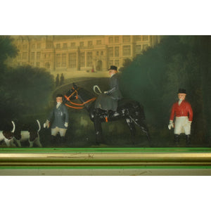 Pair of Castle Ashby Northamptonshire Britains Diorama FoxHunt Shadow Boxes