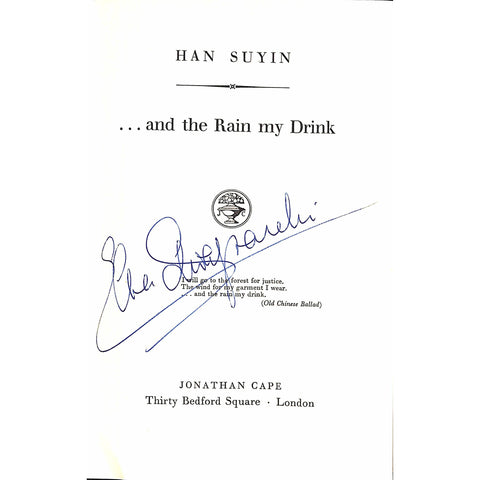 ...and the Rain my Drink