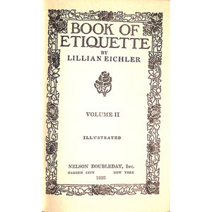 Book of Etiquette Volume II
