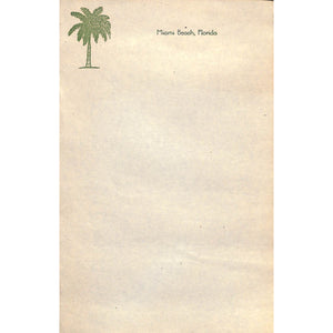 Set Of Vintage Stationary W/ Miami Beach Colour Graphics