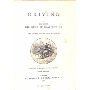 The Badminton Library: Driving