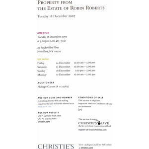 Property From The Estate of Robin Roberts