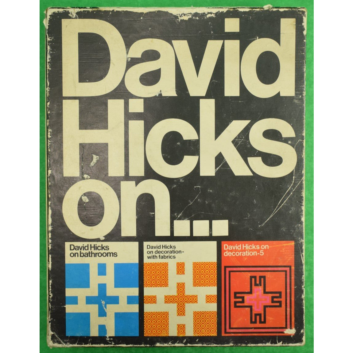 David Hicks On... Incredibly Rare Slipcase w/ (3) Volumes Bathrooms/ On Decoration
