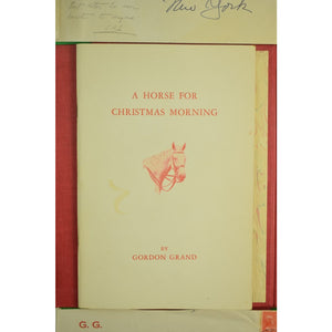 Christmas Stories 5 Equestrian Millbrook, NY Booklets/Letters by Gordon Grand