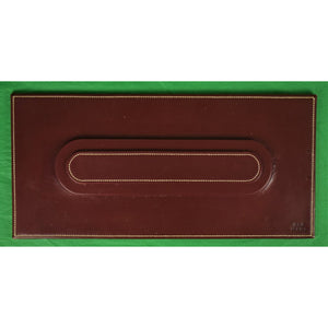 Ultra-Rare Hermes Burgundy Leather Dinner Placecard Setting Tray