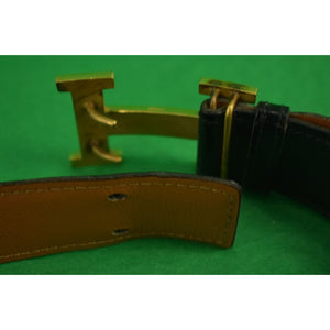 Hermes Gent's Signature Brass Buckle Belt