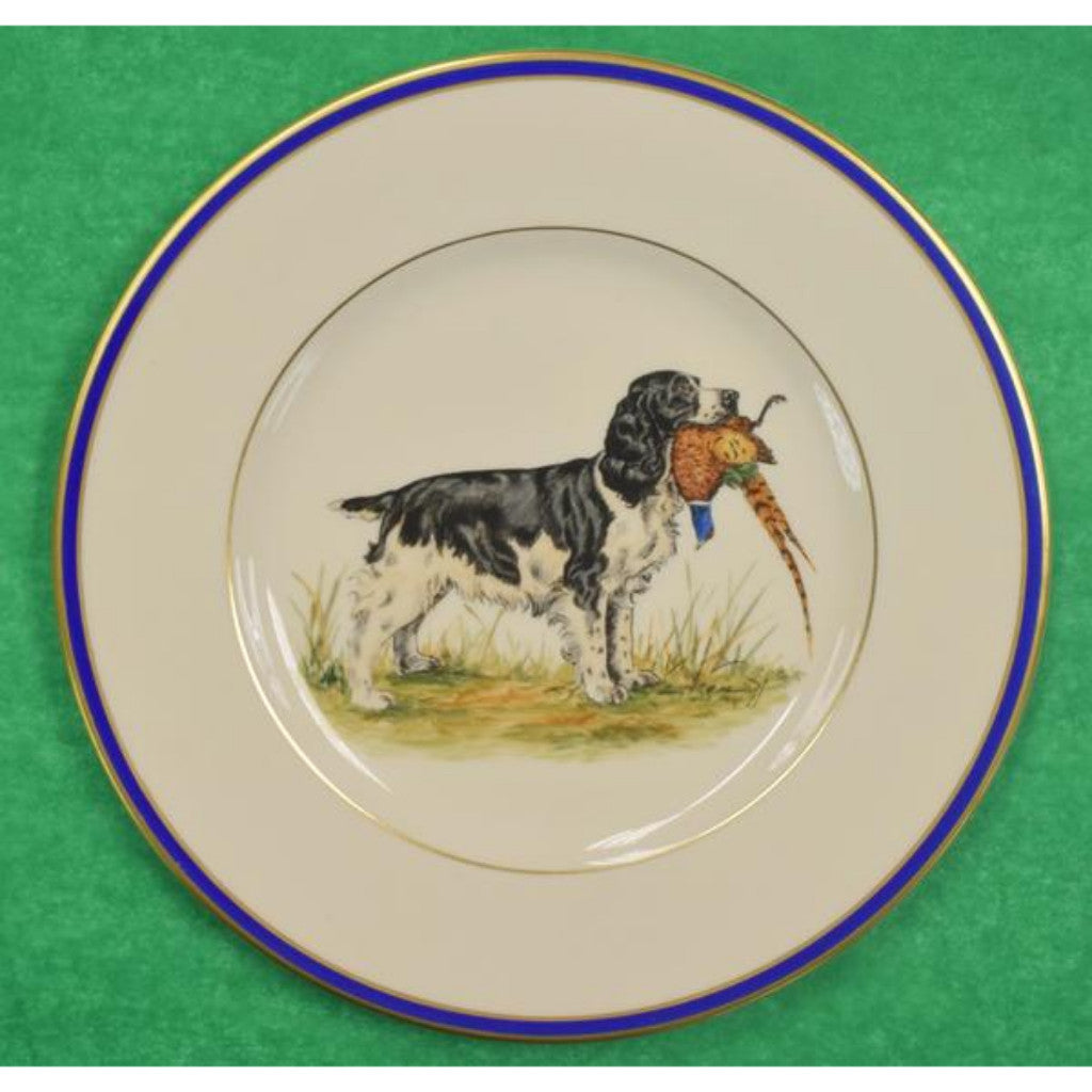 'Set of 12 Cyril Gorainoff w/ 6 Pr of Dog Breeds Hand-Painted c1940s A&F Plates'
