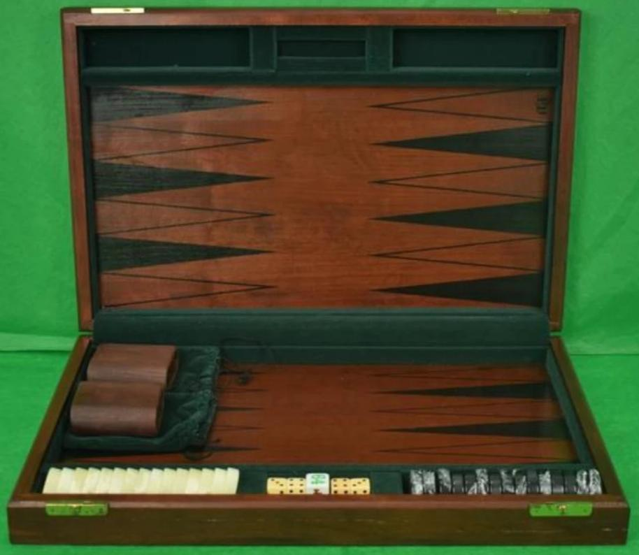 Abercrombie & Fitch c.1980's Backgammon Board Set (SOLD!)