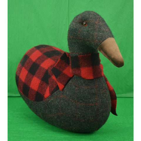Buffalo Check Blanket w/ Windowpane Char Grey Flannel Duck Decoy