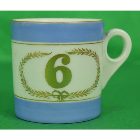 Pair of English 19th C Porcelain #'s 5&6 Mugs