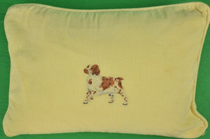 Polo Ralph Lauren Yellow Pinwale Cocker Spaniel Pillow