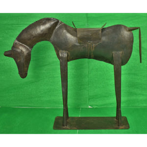 Pair of French Bronze Horses